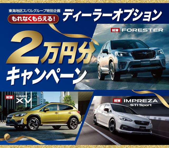 ディーラーオプション2万円分キャンペーン